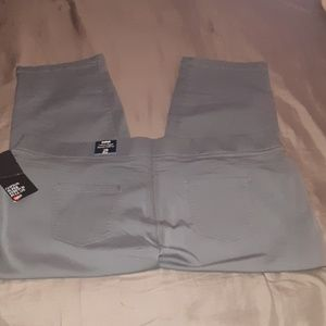AVENUE Grey pull on jeans size 28P